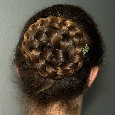 Messy-bun-hairstyle-with-braids